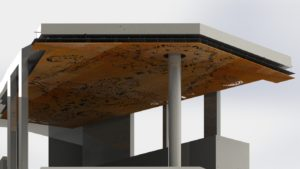 3D Render of Intricate Ceiling Panels
