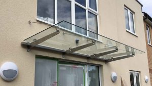Stainless Steel Canopy with Fixing Bars