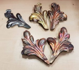 Pressed Leaves in Brass, Copper and Mild Steel